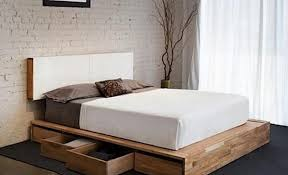 Diy Platform Bed With Headboard by Diy Storage Beds U2022 The Budget Decorator