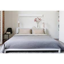 Cb2 Duvet Cb2 Alpine White King Bed Frame Chairish