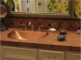 Rectangular Drop In Bathroom Sink by Sinks Astonishing Drop In Copper Sink Drop In Copper Sink