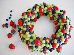 how to make an edible fruit wreath wreaths