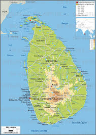 India Physical Map by Geoatlas Countries Sri Lanka Map City Illustrator Fully