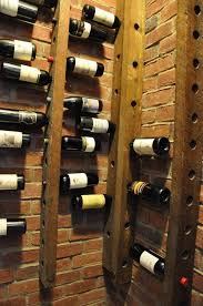 wall mounted wine rack space saving wine cellar storage furniture