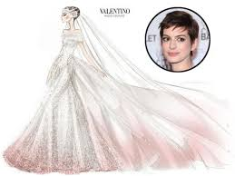 valentino wedding dresses see a detailed sketch of hathaway s pink couture valentino