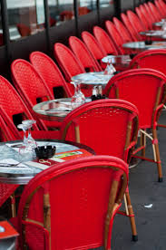 paris photo red cafe chairs in paris bistro fine art