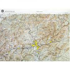 Knoxville Tennessee Map by Ni171 Knoxville Raised Relief Map