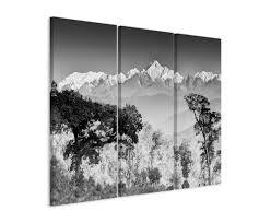 wandbilder 3 teilig landschaftsfotografie u2013 kanchenjunga gebirgskette indien grau