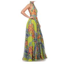 va va voom dresses va va voom multicolor printed sleeveless a line casual maxi