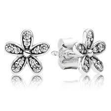 silver stud earrings uk pandora silver cubic zirconia stud earrings 290570cz the