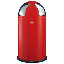 wesco pushboy bin designer silver modern kitchen trash can