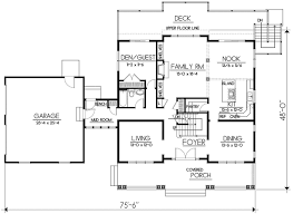 floor plan with scale craftsman style house plan 5 beds 3 00 baths 2968 sq ft plan 100 504