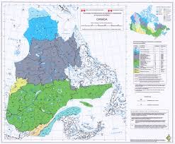 Map Of Quebec Ecozones Ecoregions And Ecodistricts
