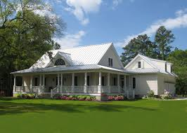 wrap around deck farmhouse with attached garage home design southern style farm