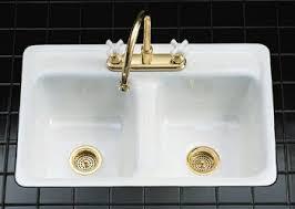 Kitchen Sink Frame by Kohler K 5950 4 0 Delafield Tile In Metal Frame Kitchen Sink