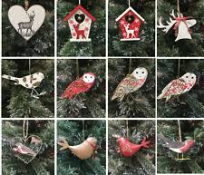 Wooden Reindeer Christmas Tree Decorations by Gisela Graham Wooden Reindeer Christmas Tree Ornaments Ebay