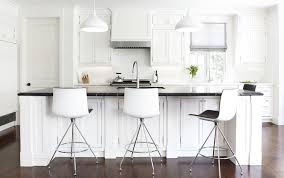 bar stools for kitchen island furniture curved back white leather upholstery modern bar stools
