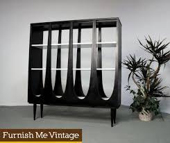 century modern broyhill brasilia room divider bookshelf