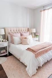 bedroom pink bedroom ideas vitt sidobord wall art white bed