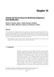 a rapid and general assay for monitoring endogenous gene
