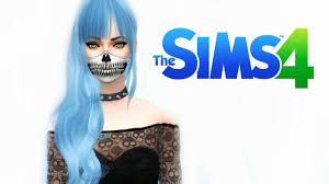 sims 4 blue hair pastel goth female sims 4 ゴシック女性キャラクター sims