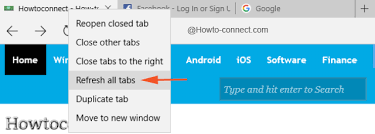 all tabs android browser how to refresh all tabs at a time in edge browser