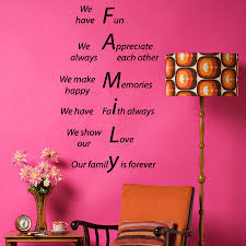family forever wall decals quote we show our love make