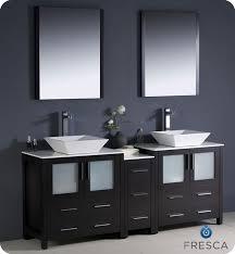 vessel sinks for bathrooms cheap fresca torino 72 modern double sink bathroom vanity vessel sinks