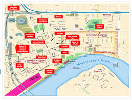 Tourist Map Of New Orleans by New Orleans French Quarter Street Map New Orleans Louisiana
