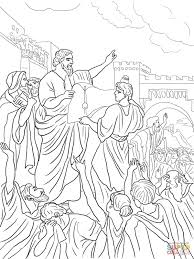ezra reading the torah scroll coloring page free printable