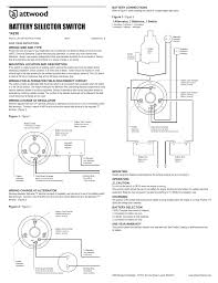 attwood 4 way battery selector switch user manual 2 pages