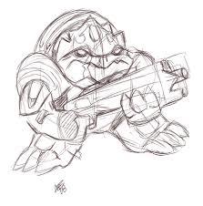 wrex sketch art of the monkey