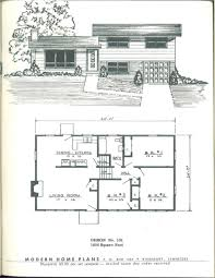Atrium Ranch Floor Plans Modern Home Plans 1955 Vintage House Plans 1950s Pinterest