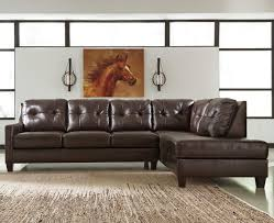 Living Room With Sectional Signature Design By Ashley O U0027kean Leather Match 2 Piece Sectional