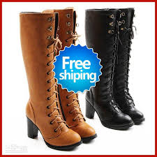 womens boots wholesale free sle style price high heel pu shoes knee