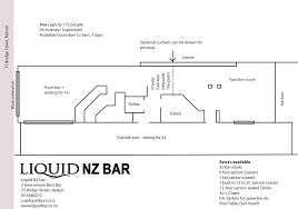 liquid nz bar floor plan u2013 liquid nz bar