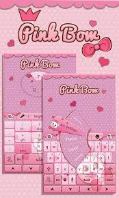 go keyboard theme apk pink bow go keyboard theme android apps on play