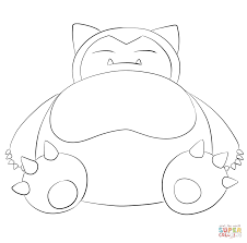 snorlax coloring page free printable coloring pages
