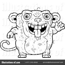 ugly monkey clipart 1129842 illustration by cory thoman