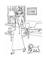 barbie coloring pages barbie puppy coloring pages