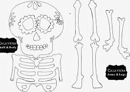 Halloween Crafts Printable by Marie U0027s Pastiche Day Of The Dead Calavera Craft U0026 Printable