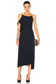 calvin klein collection jazz stretch matte cady dress in midnight
