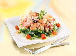 cuisiner cocktail de fruits de mer surgelé escal recette salade de fruits de mer huile d olive vierge escal