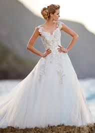 sequin tulle embroidered lace ball gown wedding dress 216238 jay