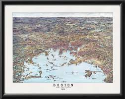 Massachusetts City Map by Vintage City Maps Bird U0027s Eye View Of Boston Massachusetts 1905