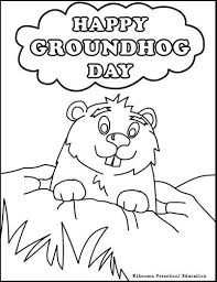 Groundhog Day Coloring Pages Fablesfromthefriends Com Groundhog Color Page