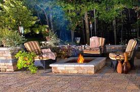 Corner Backyard Landscaping Ideas Outdoor Fire Pit Seating Ideas Quiet Corner