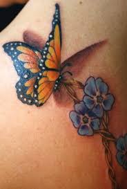flowers with butterfly necklace images Blue flower and butterfly tattoo jpg