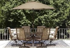 Folding Patio Set With Umbrella Patio U0026 Pergola Mainstays Searcy Lane 6 Piece Padded Folding