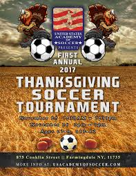 annual thanksgiving soccer tournament soccer academy
