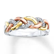 braided ring braided ring 1 15 ct tw diamonds sterling silver 10k gold