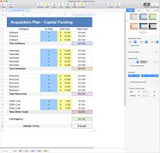 Numbers Spreadsheets Acquisition Plan Template Apple Iwork Pages And Numbers